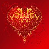 Decorative Red Heart — Stock Vector