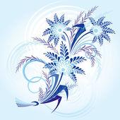 Bouqet Of Winter Flowers — Stock Vector