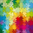 Jigsaw Color Puzzle — Stockvektor