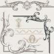 Set of Classic Decor Elements - Stock Vector