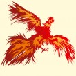 Royalty-Free Stock Vector Image: Flying Red Rooster