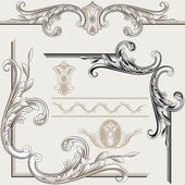 Set of Classic Decor Elements — Stock Vector