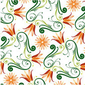 Floral Pattern On White Background — Stock Vector