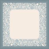 Ornament Square Label — Stock Vector