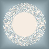 Ornament Circle Label — Stock Vector