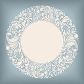 étiquette de cercle d'ornement — Vecteur
