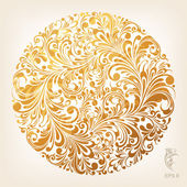 Ornamental Gold Circle Pattern — Stock Vector