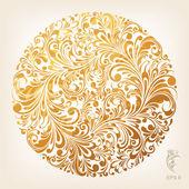 Ornamental Gold Circle Pattern — Stock Vector