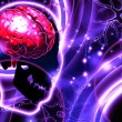 Stock Photo: Brain and neurons abstract background