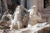 Estátua da fonte de Trevi — Fotografia Stock