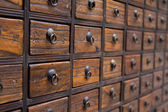 Antique Chinese Medicine Chest — Stock Photo