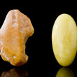 Rough And Finished Sixty Million Year Old Baltic Butterscotch Amber — Stock Photo