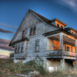 Stock Photo: Eerie Abandoned House