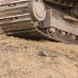 Stock Photo: Excavator Track On Hill