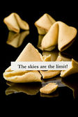 "Fortune cookie: ""The skies are the limit"" — Stock Photo"
