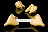 Fortune cookie with a blank message — Stock Photo