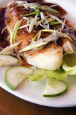 Succulent Fish And Onions Dish — Stock Photo