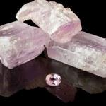 rosa Kunzit grov och pärla — Stockfoto