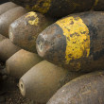 Old World War II Munitions — Stock Photo
