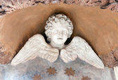 Winged Cherub Statue — Stock Photo