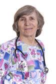 Elderly nurse — Stock Photo