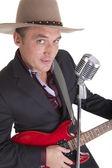 Country guitar man — Stock Photo
