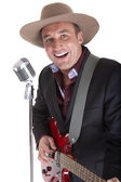 Country singer — Stock Photo