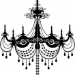 Stock Vector: Chandelier pattern