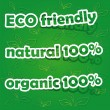Set of Eco Friendly, Natural and Organic Labels — Stock vektor