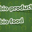 Stock Vector: Bio product and bio food
