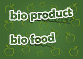 Bio product and bio food — Stock Vector