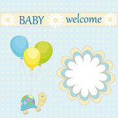 Baby welcome — Stock Vector