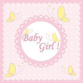 Baby girl, card — Stock Vector