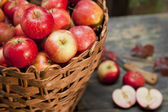 Applebasket — Stock Photo