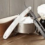 Vintage shaving kit — Stock Photo