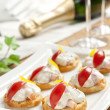 Creamy canapés — Stock Photo