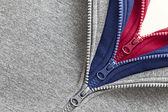Three zippers — Stock Photo