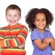Two beautiful children - Stock Photo