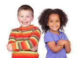Zwei wunderbare kinder — Stockfoto