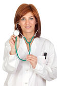 Attractive doctor by listening — Stock Photo