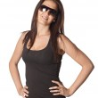 Attractive young woman with sunglasses — Stock Photo #9424892