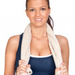 Gymnastics girl with a towel — Stock Photo #9424899