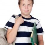 Back to school. Beautiful student boy — Stock Photo