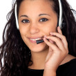 Attractive girl with a headphone — Stock Photo #9425782