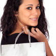 Brunette woman in shopping — Stock Photo #9425814
