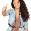 Stock Photo: Attractive woman saying Ok
