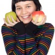 Adolescent with apples — Stockfoto #9429032