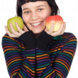 Adolescent with apples — Stock Photo #9429032
