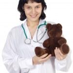 Doctor with teddy bear — Stock Photo #9429059