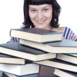 Girl and books - Stock Photo